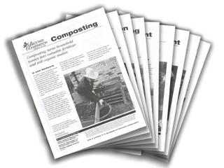 Backyard Conservation tip sheet set